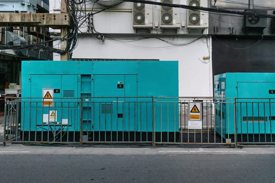 Mobile Unit of Emergency Electric Power Generator at Site